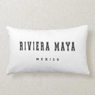 Riviera Maya Mexico Lumbar Pillow