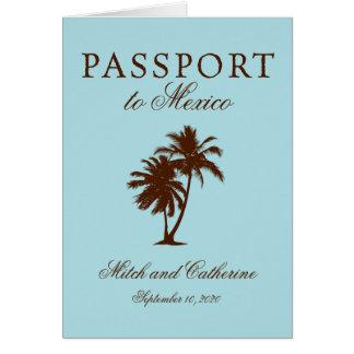 Riviera Maya Mexico Passport | Wedding Stationery Note Card