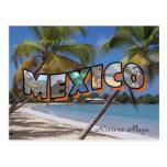 Riviera Maya Mexico Postcard Retro Style
