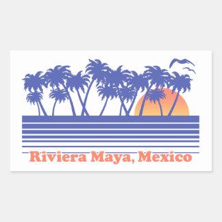 Riviera Maya Mexico Rectangular Sticker
