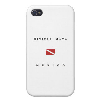 Riviera Maya Mexico Scuba Dive Flag Case For iPhone 4