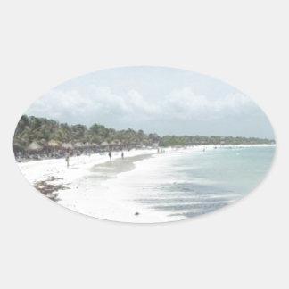 Riviera Maya Oval Sticker
