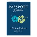 Riviera Maya Passport Wedding Invitation Stationery Note Card