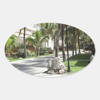 Riviera Maya products Oval Sticker