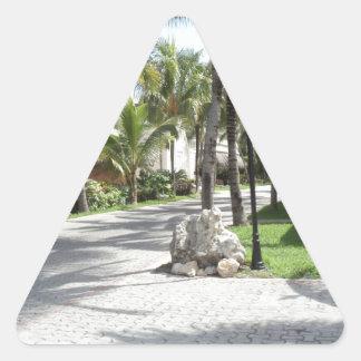 Riviera Maya products Triangle Sticker
