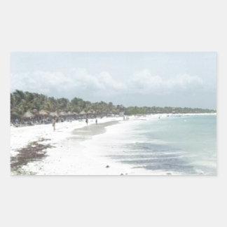 Riviera Maya Rectangular Sticker