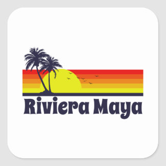 Riviera Maya Square Sticker