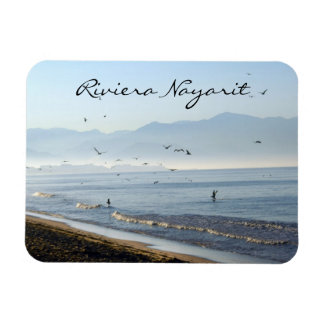 Riviera Nayarit Early Morning with Pelicans Rectangular Photo Magnet