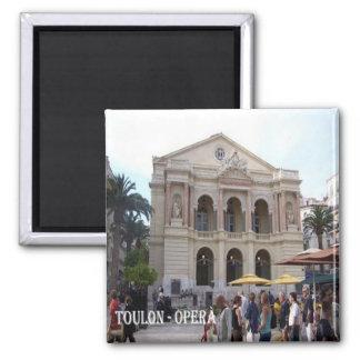 Riviera-Toulon-Ópera Franco-Francia-Francesa Imán Cuadrado