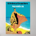 Riviera vara el ~ Menton Poster