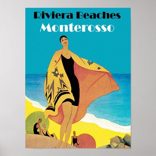 Riviera vara el ~ Monterosso Póster