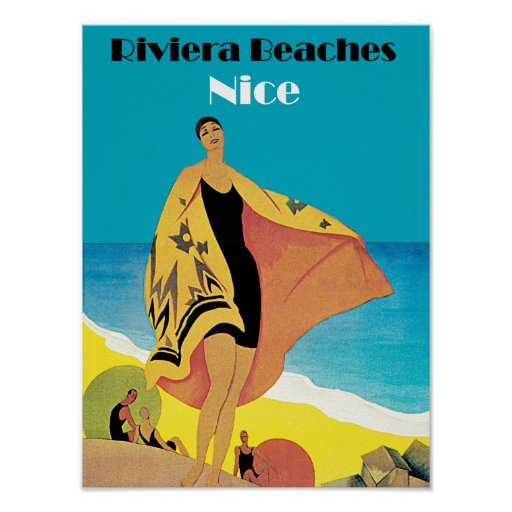 Riviera vara el ~ Niza Poster