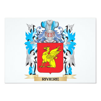Riviere Coat of Arms - Family Crest 5x7 Paper Invitation Card