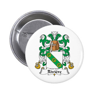 Riviere Family Crest Pinback Button