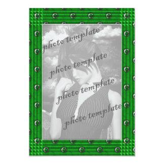 Rivited Goth Photo Frame Sweet 16 Birthday 5x7 Paper Invitation Card