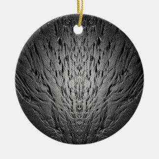 Rivulets on a sandy beach ceramic ornament