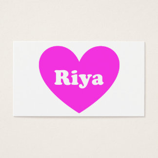 Riya Business Card