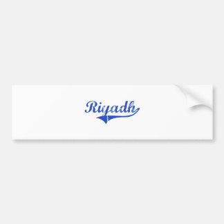 Riyadh City Classic Bumper Sticker