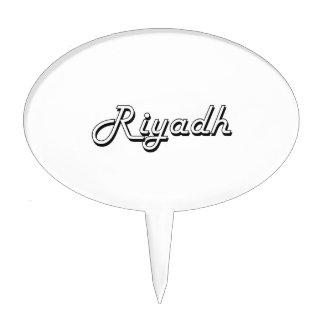 Riyadh Saudi Arabia Classic Retro Design Cake Toppers