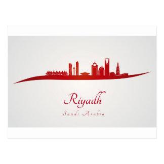 Riyadh skyline in red.jpg postcard