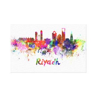 Riyadh skyline in watercolor canvas print