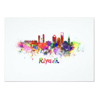 Riyadh skyline in watercolor card