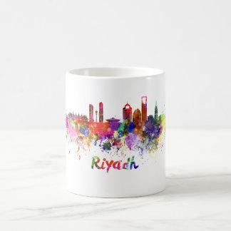 Riyadh skyline in watercolor coffee mug