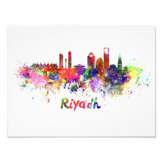 Riyadh skyline in watercolor photo print