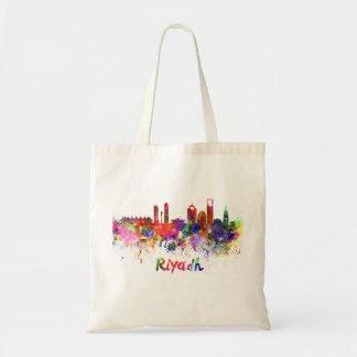 Riyadh skyline in watercolor tote bag