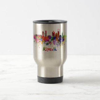 Riyadh skyline in watercolor travel mug