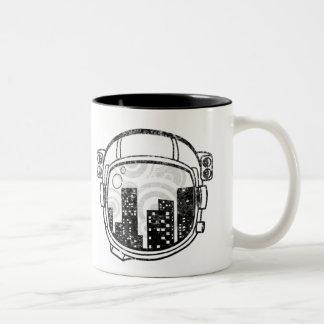 Riyah-Li Designs Cityscape Two-Tone Coffee Mug