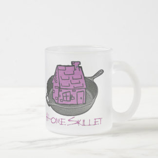 Riyah-Li Designs Home Skillet Frosted Glass Coffee Mug