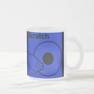 Riyah-Li Designs iscratch 10 Oz Frosted Glass Coffee Mug