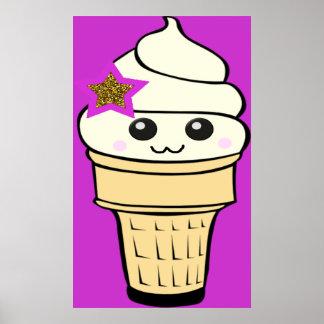 Riyah-Li Designs Kawaii Ice Cream Poster