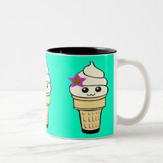Riyah-Li Designs Kawaii Ice Cream Two-Tone Coffee Mug