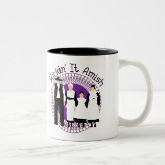 Riyah-Li Designs Kickin' It Amish Two-Tone Coffee Mug
