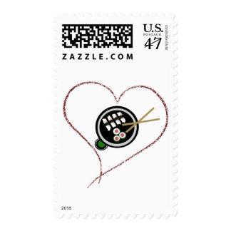 Riyah-Li Designs Love Sushi Postage Stamp
