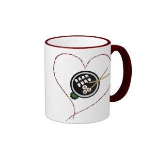 Riyah-Li Designs Love Sushi Ringer Mug