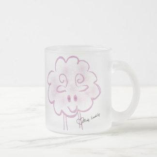 Riyah-Li Designs Pinky Lambchop 10 Oz Frosted Glass Coffee Mug