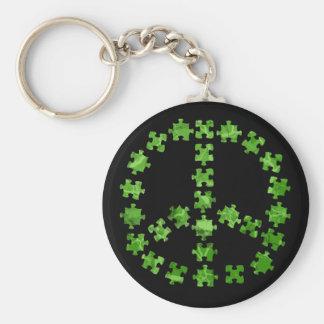 Riyah-Li Designs Puzzle Piece Sign Basic Round Button Keychain