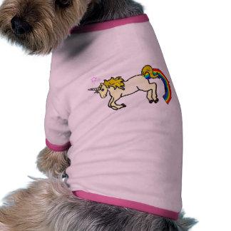 Riyah-Li Designs Rainbow Pooping Unicorn Doggie T Shirt