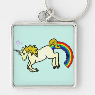 Riyah-Li Designs Rainbow Pooping Unicorn Keychain