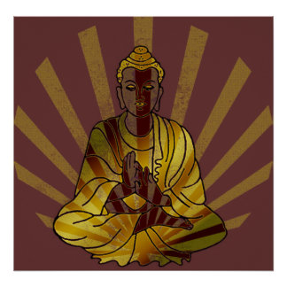 Riyah-Li Designs Vintage Buddha Poster