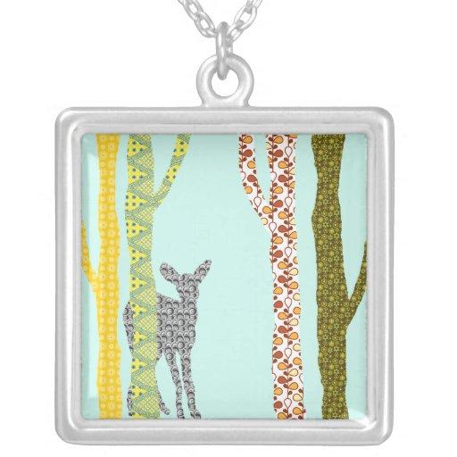 Riyah-Li Designs Woodland Forest Personalized Necklace