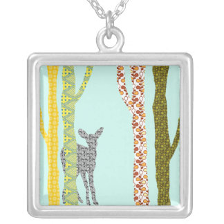 Riyah-Li Designs Woodland Forest Silver Plated Necklace