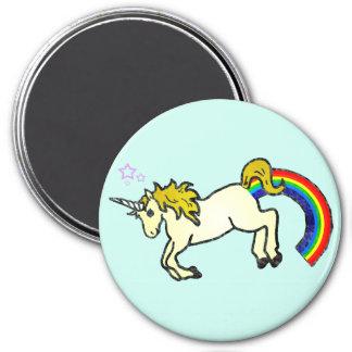 Riyah-Li diseña el unicornio de Pooping del arco i Imán Redondo 7 Cm