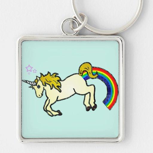 Riyah-Li diseña el unicornio de Pooping del arco i Llaveros Personalizados
