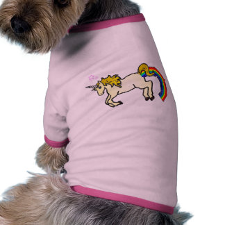 Riyah-Li diseña el unicornio de Pooping del arco i Camisas De Mascota