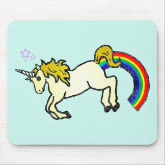 Riyah-Li diseña el unicornio de Pooping del arco i Tapetes De Ratón