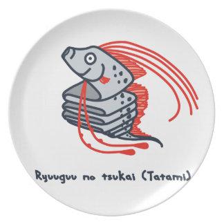< riyuuku ゙ unotsukai (folding) color >Oarfish Melamine Plate